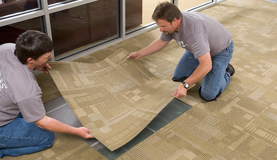 [Hướng dẫn] Thi công thảm lót sàn văn phòng | Interline flooring